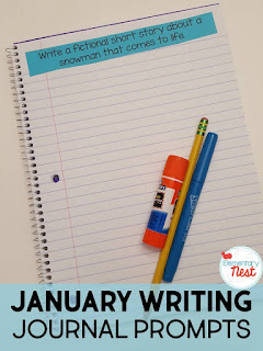 Winter journal writing plus a few FREEBIES- blog post highlighting hands-on activities for kids