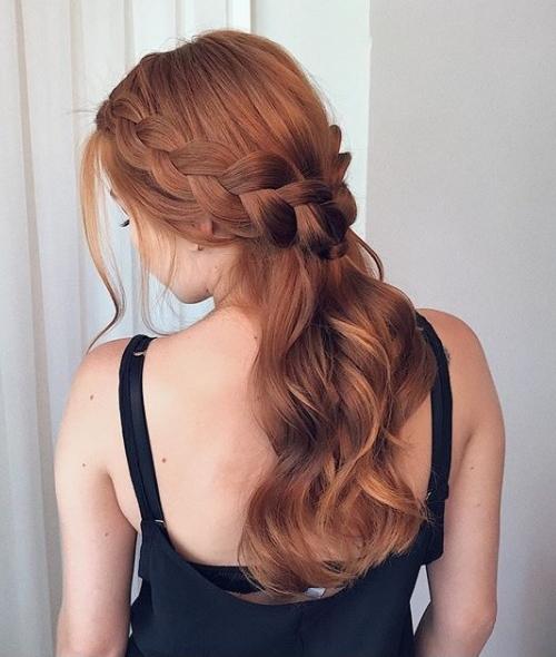 penteado de festa semi preso hairstyle