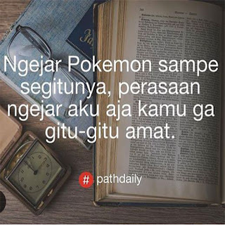 Gambar meme sindiran buat yang nyari pokemon go dp bbm