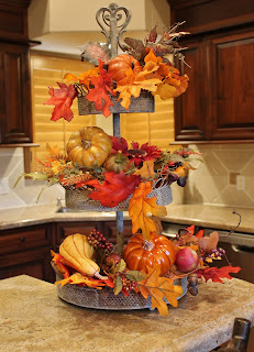 Fall decorating in the kitchen