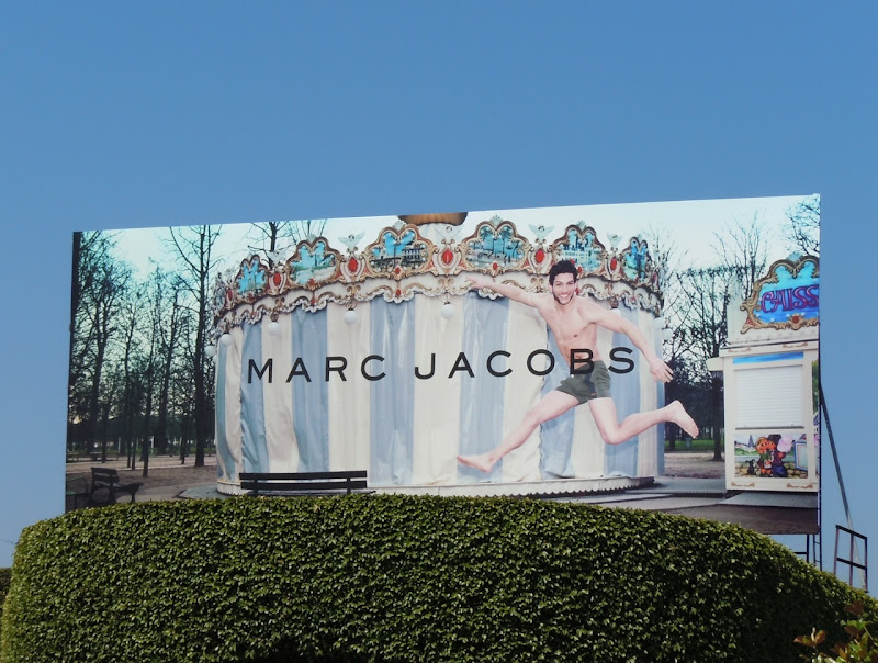 Marc Jacobs carousel billboard