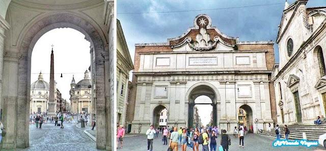 Porta Flaminia Piazza del Popolo