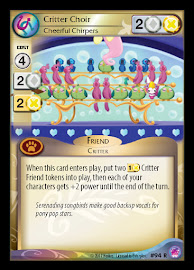 My Little Pony Critter Choir, Cheerful Chirpers Seaquestria and Beyond CCG Card