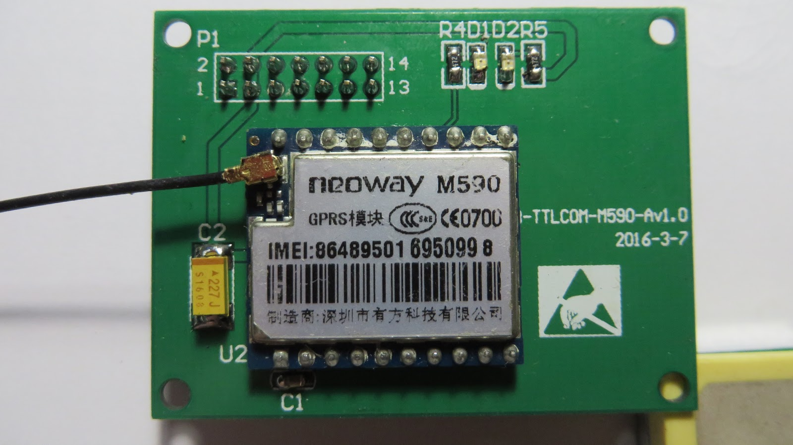 SMS GPS-tracker with Neoway M590 and ublox NEO-6 part 1  Gathering