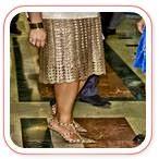 Falda elegante crochet en dorado