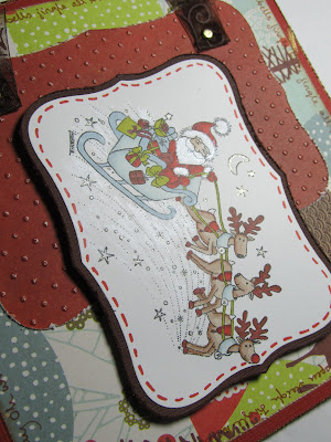Christmas santa sled card