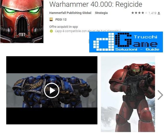 Trucchi Warhammer 40.000: Regicide Mod Apk Android v 1.11