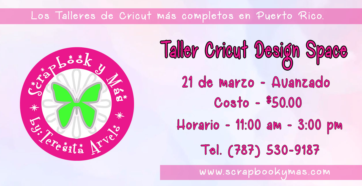 Taller Cricut Design Space Avanzado