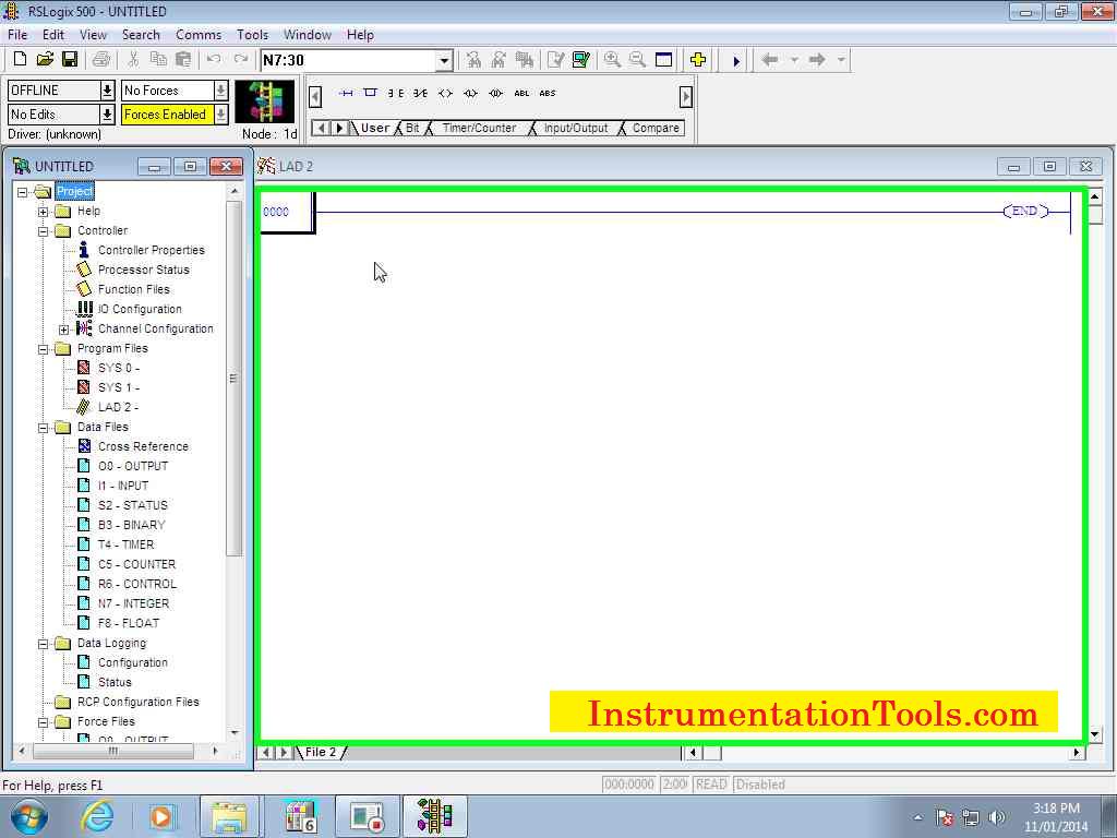 Allen Bradley RSLogix 500 PLC Programming | Instrumentation Tools
