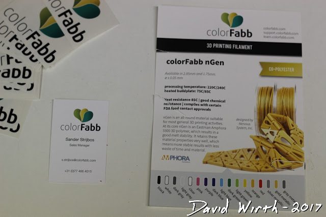 colorfab ngen 3d printer filament, cost, review