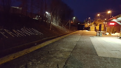 early morning on the Franklin Dean platform