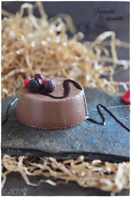 Pannacotta de crema de cacao