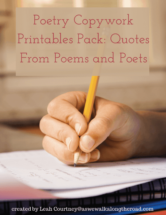 Free Poetry Copywork for Kids