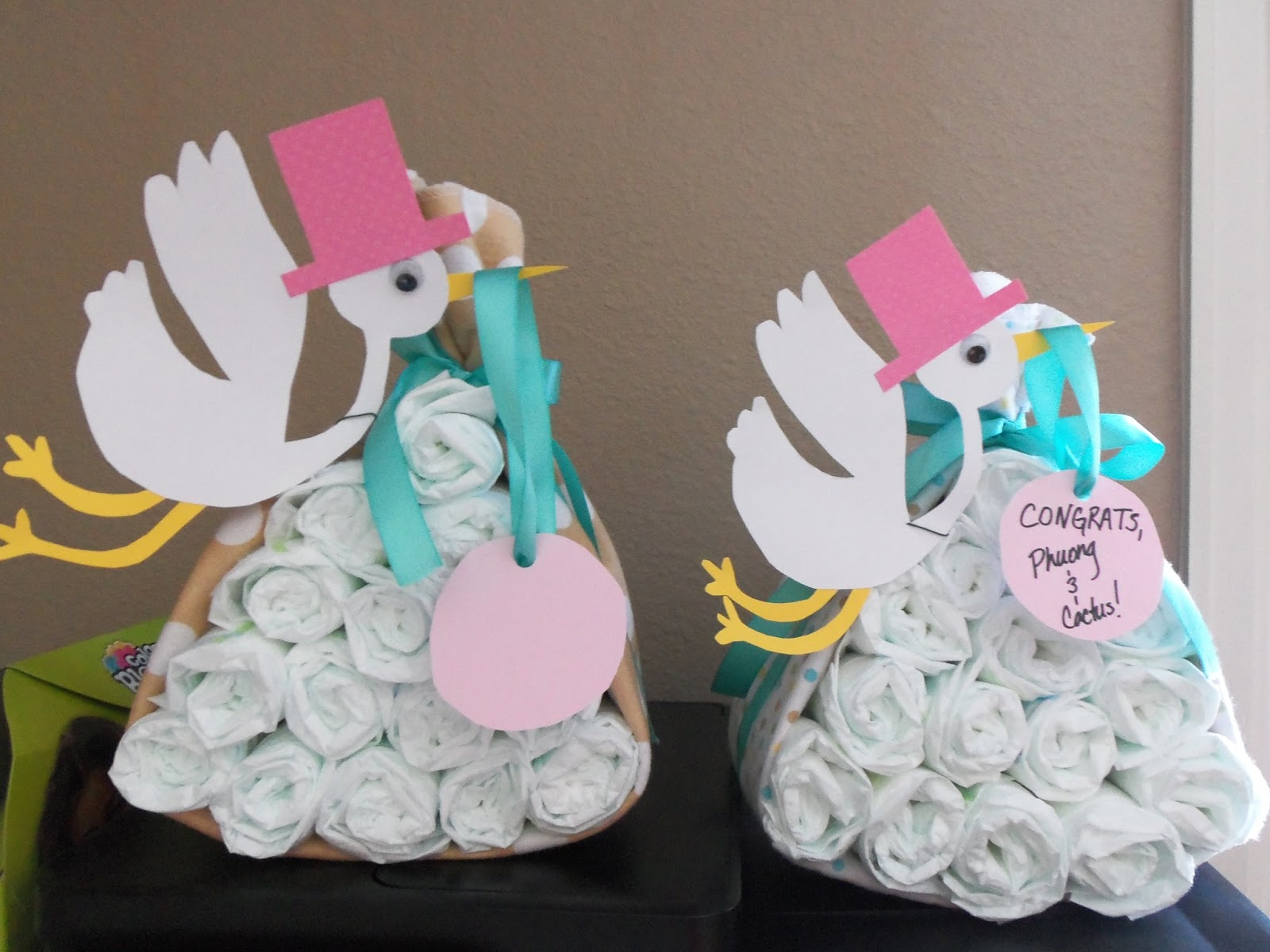 Look What The Stork Brought Diapers For Baby Shower