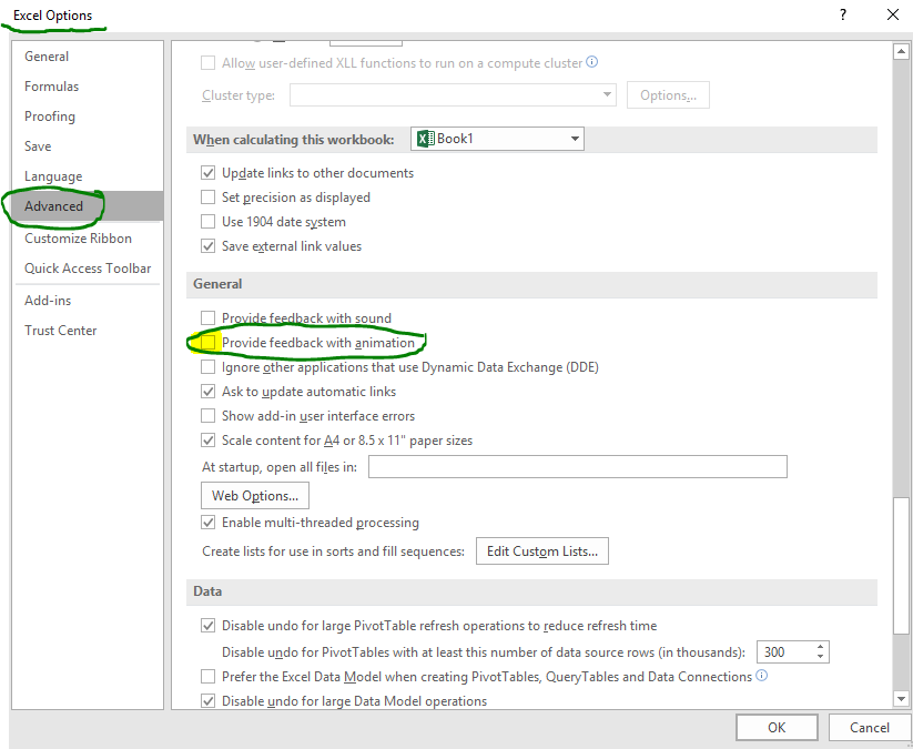 Do My Excel Blog: Excel Tip: Disable Cell Selection