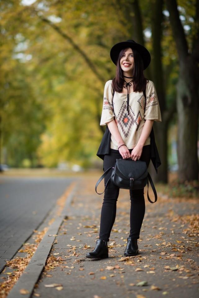 boho stylizacja blogerki na jesień