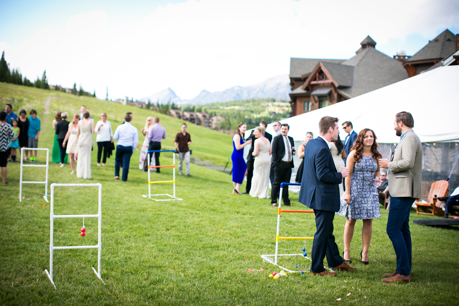 Lawn Games / Montana Wedding / Eye in the Sky Photography / Big Sky Resort / Flowers: Katalin Green