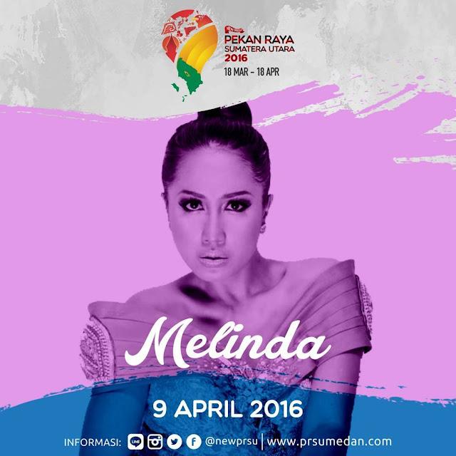 Penampilan Melinda - 9 April 2016 di Pekan Raya Sumatera Utara