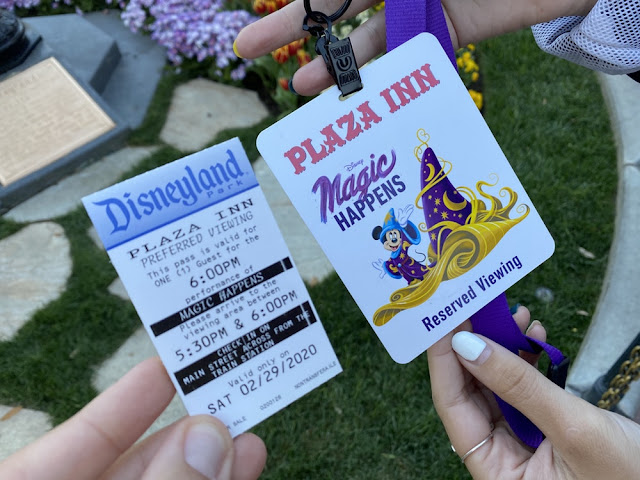 Magic Happens Parade Food, snacks, dining package, Plaza Inn, reserve viewing