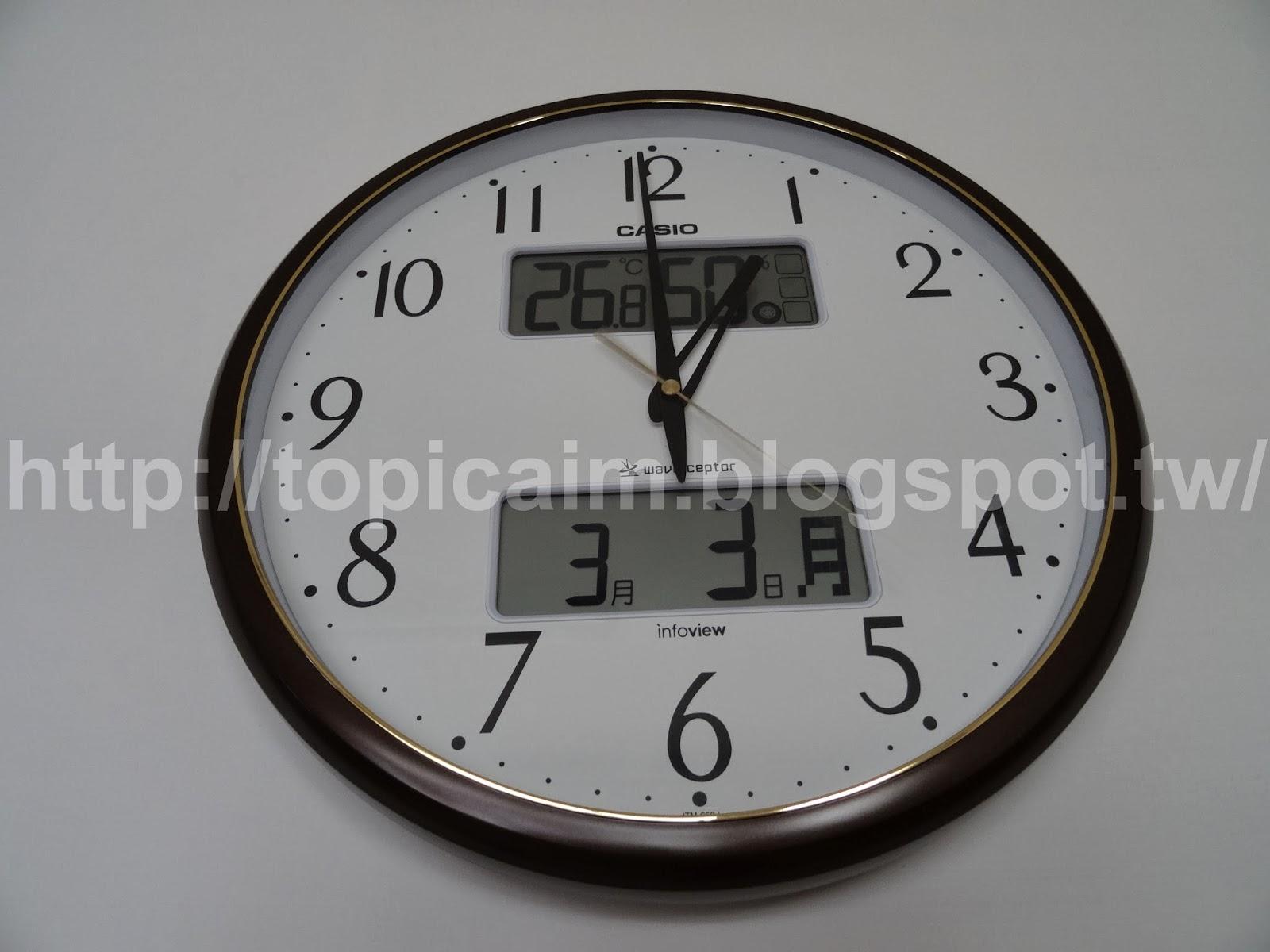 CASIO電波計時壁掛鐘(壁掛け電波時計)