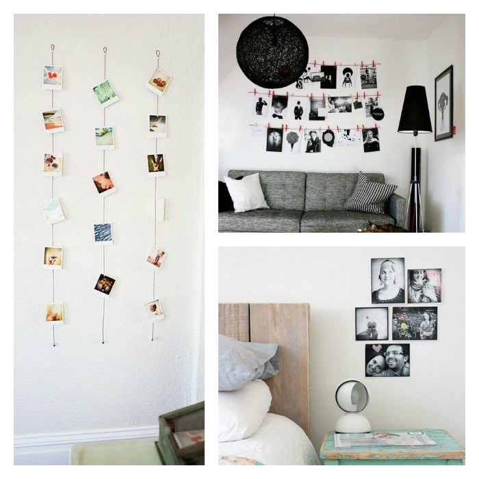 Una pizca de hogar c mo decorar tus paredes con fotos - Como decorar pared con fotos ...