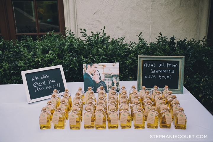diy olive oil wedding favors