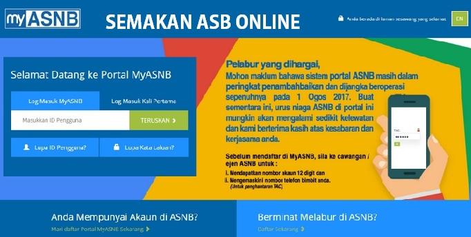 Semakan ASB Online dan Cara Pendaftaran Online myASNB