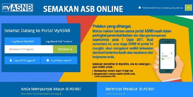 Semakan Online dan Cara Pendaftaran Online myASNB