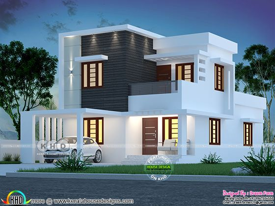 4 bedroom 1670 sq.ft  modern home design