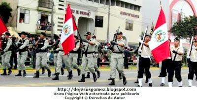Así lucieron las escoltas del INPE en el Desfile y Parada Militar del Perú 2012