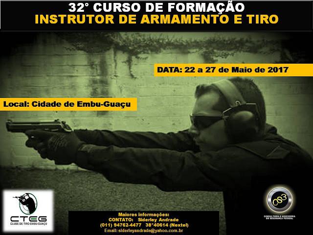 Curso de Formação de Instrutor de Armamento e Tiro - CS3/CTEG