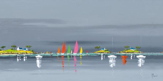 Reflexos no Mar - Frédéric Flanet e suas belas pinturas com paisagem de praias