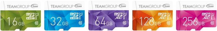 TEAM社の主力商品「COLOR CARD」マイクロSDカード
