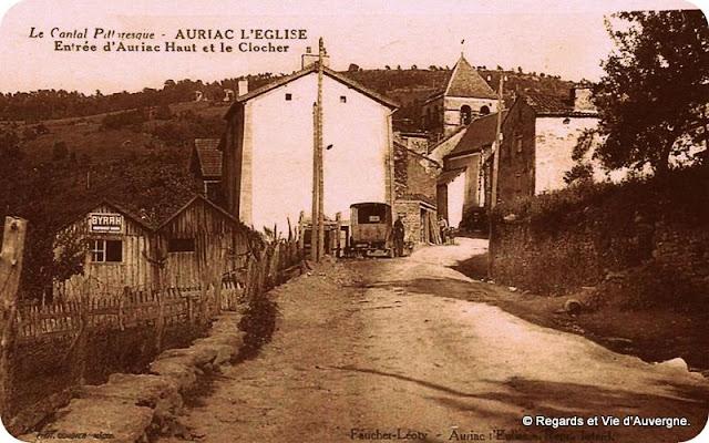 CPA Auriac l'église, Cantal.