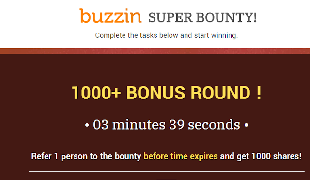 Join Us in the BUZZIN BOUNTY; Accumulate Points that You can Change to Money