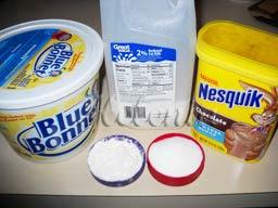 - Масло сливочное - 2 столовые ложки; - Какао - 2 столовые ложки;