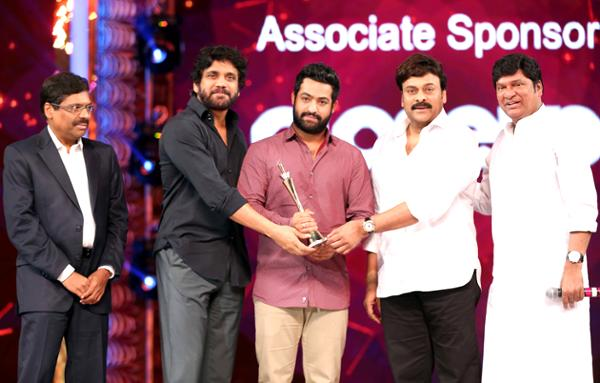 NTR Jr received Best Actor award in 2016 cinema awards  Jr NTR Won Best Actor Award
