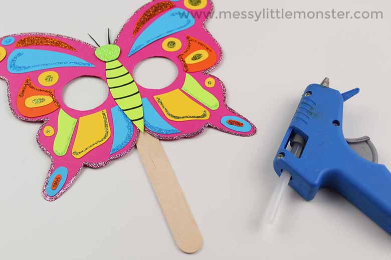 butterfly mask craft for toddlers