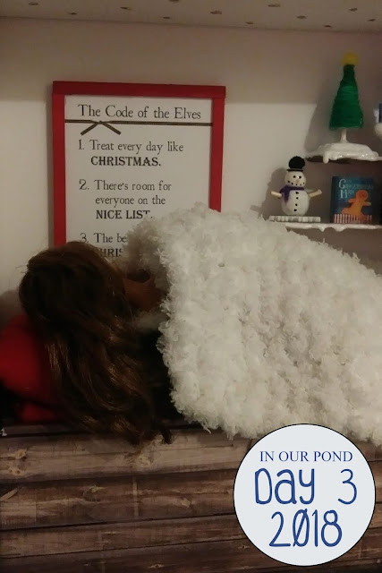 Elf on the Shelf Ideas // In Our Pond // napping house // christmas // elf