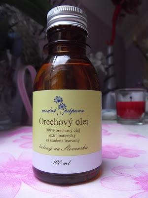 Modrá Púpava Orechový olej