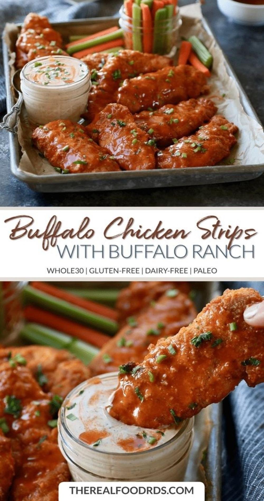 Buffalo Chicken Strips with Buffalo Ranch