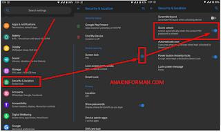 Cara Mengaktifkan Quick Unlock Agar Ketika Memasukan Pin atau Password Smartphone tidak Perlu Di Enter