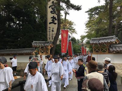例祭神輿渡御(平成28年10月8日)