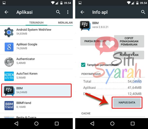BBM Android error tidak bisa kirim pesan