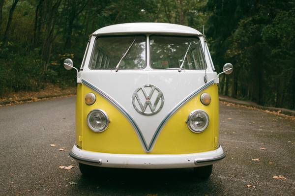 1965 VW Bus 13 Window Yellow Deluxe | VW Bus