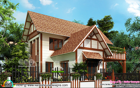 European model sloping roof 3 bedroom home 2900 square feet