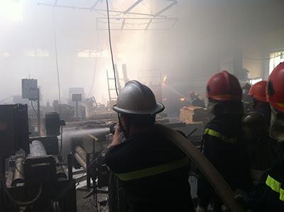 Thiết bị chữa cháy - cháy lớn tại công ty VINAWOOD quận Thủ Đức