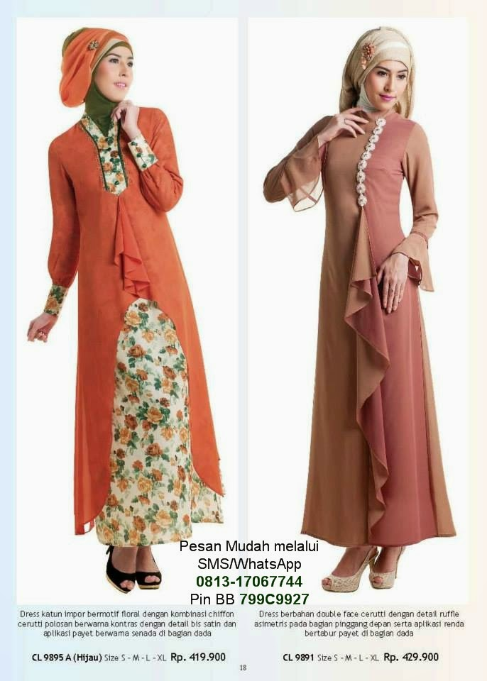 Harga Baju Gamis Pesta Zoya Hijab Nemo