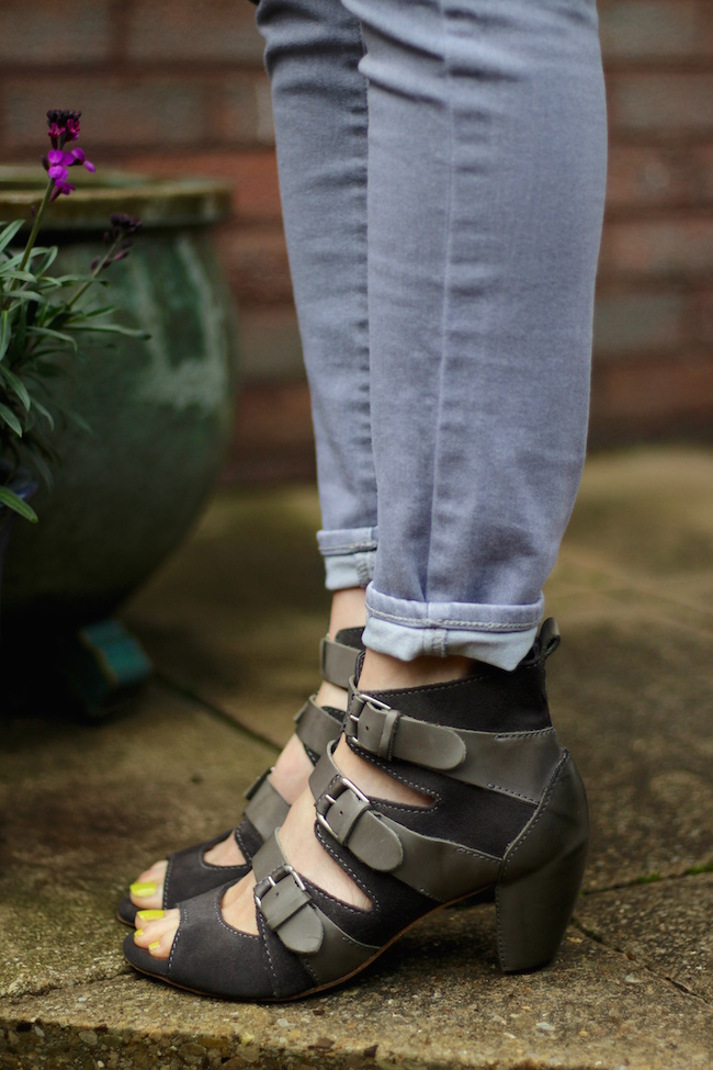 Fake Fabulous | Allsaints Grey buckle sandals