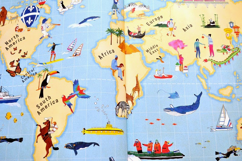 Atlas of Adventure, World map, kids book